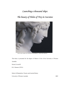 Launching a thousand ships: The beauty of Helen of Troy in Isocrates