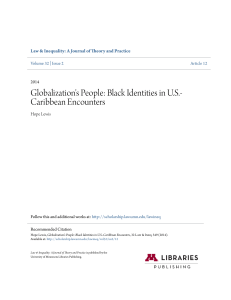 Globalization`s People: Black Identities in U.S.