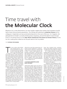 Time travel with the Molecular Clock - Max-Planck
