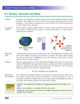 262 9.1 Solutes, Solvents and Water - District 196 e