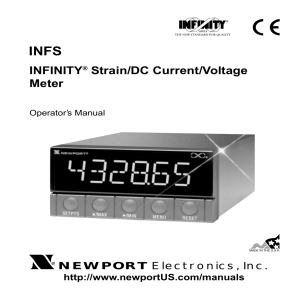 INFS - INFINITY Strain/DC Current/Voltage Meter Manual