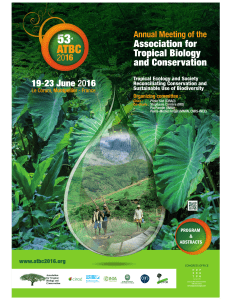 abstracts / oral presentations - Association for Tropical Biology and