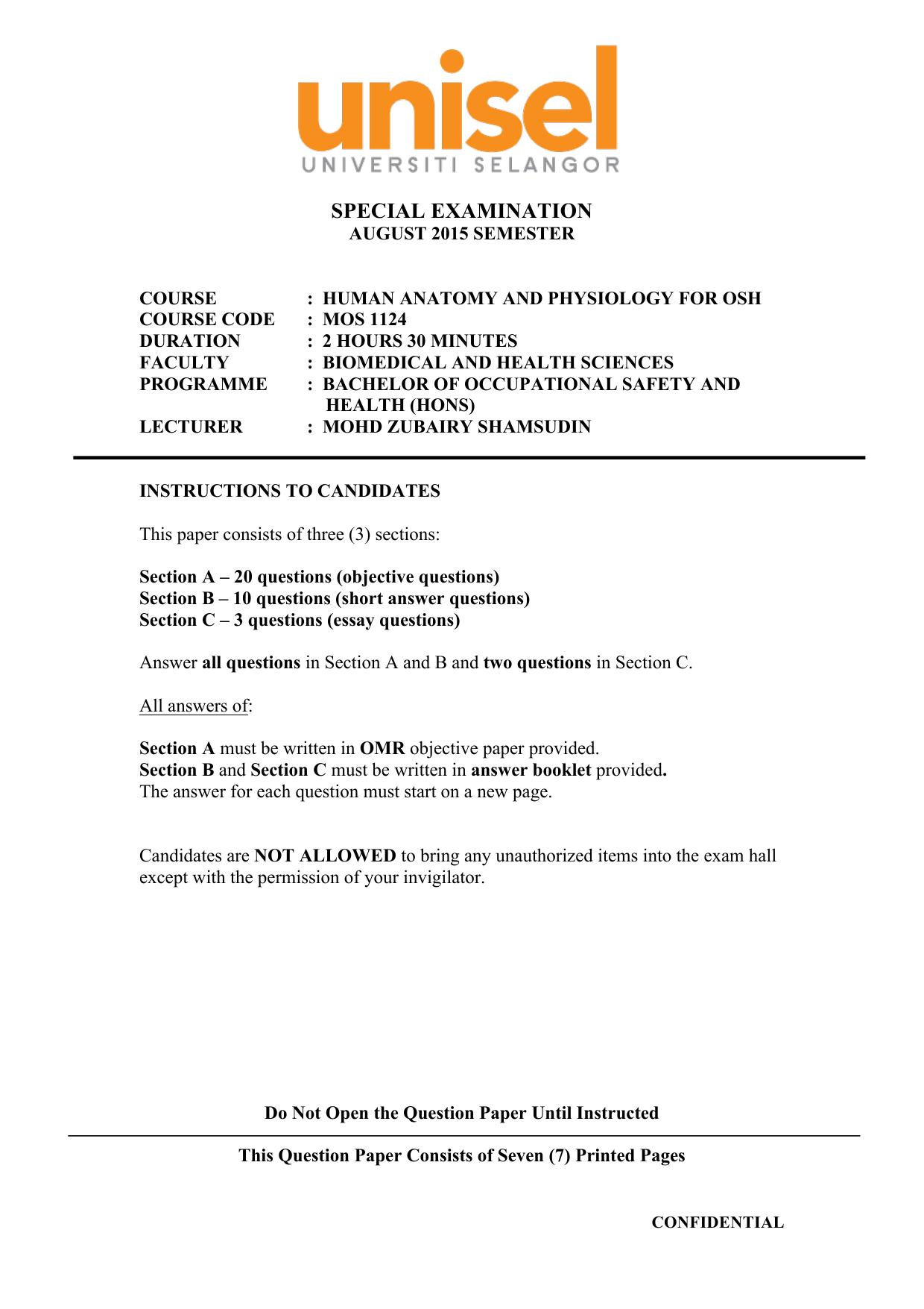 Exam Paper : MOS 1124 Session 3/2015/34