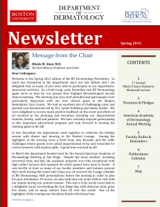 Spring 2012 Newsletter - Boston University Medical Campus