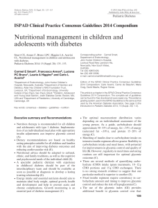 Nutritional management in children and adolescents with diabetes