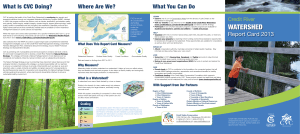 Credit River Watershed Report Card 2013