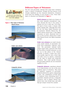 3 types of Volcanoes Reading