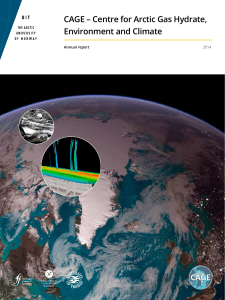 CAGE Annual Report 2014 - Centre for Arctic Gas Hydrate