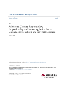 Adolescent Criminal Responsibility, Proportionality, and Sentencing