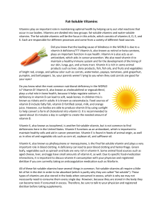 Fat-Soluble Vitamins - Cherokee Public Health