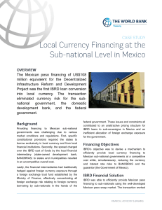 The Mexican peso financing of US$108 million equivalent for the