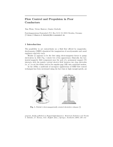 Flow Control and Propulsion in Poor Conductors