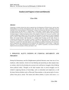 Dualism and Progress in Kant and Nietzsche