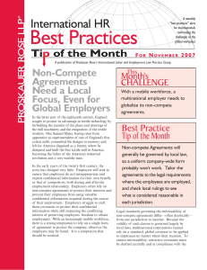 International HR Best Practices Tip of the Month