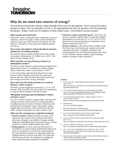 Why do we need new sources of energy?