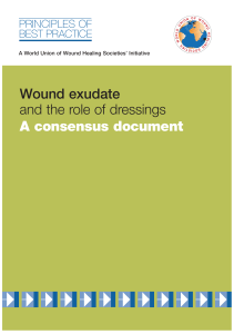 Wound exudate and the role of dressings