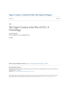 The Upper Country in the War of 1812: A