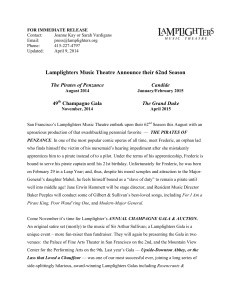 2014-15 Season Announcement - Lamplighters Music Theatre