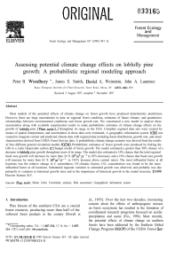 Assessing potential climate change effects on loblolly pine growth: A