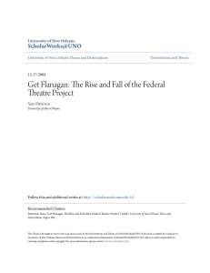 Get Flanagan: The Rise and Fall of the Federal Theatre Project
