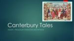 Canterbury Tales Character Roles Overview