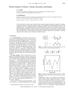 Physical Chemistry of Polymers: Entropy