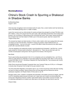 China`s Stock Crash Is Spurring a Shakeout in Shadow Banks