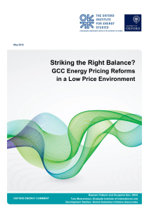 Striking the Right Balance? - Oxford Institute for Energy Studies