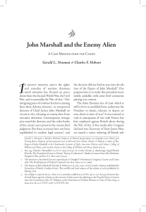 John Marshall and the Enemy Alien