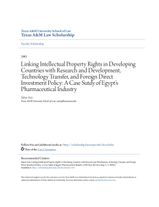 Linking Intellectual Property Rights in Developing Countries with