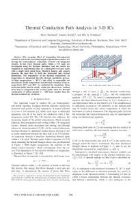 Thermal Conduction Path Analysis in 3-D ICs