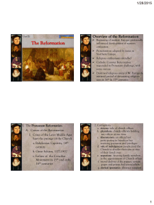 The Reformation PowerPoint PDF