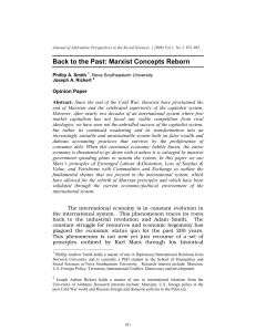 Back to the Past: Marxist Concepts Reborn