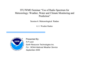 "ITU/WMO Seminar ""Use of Radio Spectrum for Meteorology"
