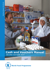 Cash and Vouchers Manual - WFP Remote Access Secure Services