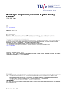 Modeling of evaporation processes in glass melting furnaces