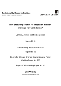 Is co-producing science for adaptation decision