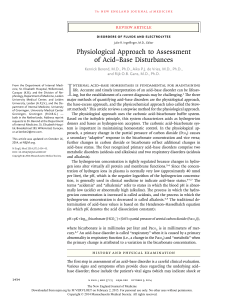 Physiological Approach to Assessment of Acid–Base