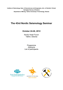 The 43rd Nordic Seismology Seminar