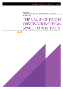 the value of earth observations from space to australia