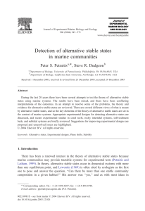 Detection of alternative stable states in marine communities