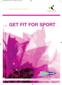 get fit for sport - The Irish Sports Council