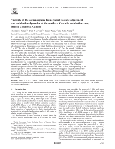 Viscosity of the asthenosphere from glacial isostatic adjustment and