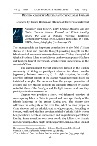Alexander Blair Stewart. 2017. Chinese Muslims and the Global Um