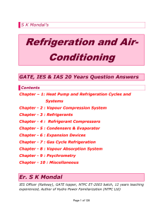 Refrigeration and Air- Conditioning