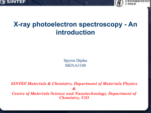 X-ray photoelectron spectroscopy - An introduction