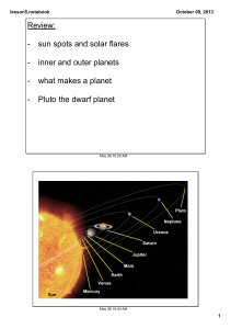 Review: sun spots and solar flares inner and outer planets what