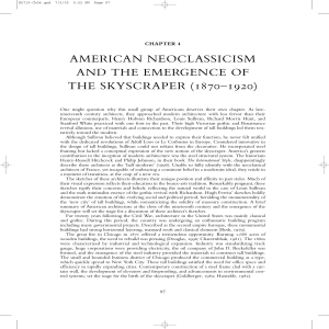 american neoclassicism and the emergence of the skyscraper (1870