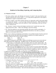 Chapter 3 Statistics for Describing, Exploring, and