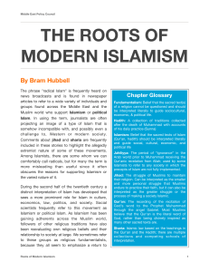 THE ROOTS OF MODERN ISLAMISM